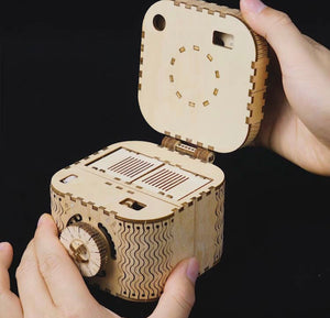Camera Wood 3D Puzzle- Locking Box