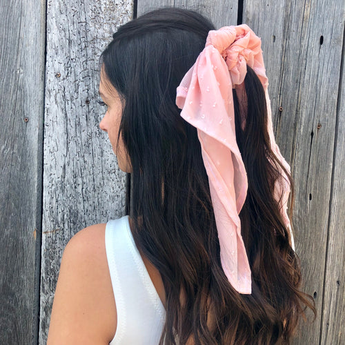 Hair Scarf - Blush Pink