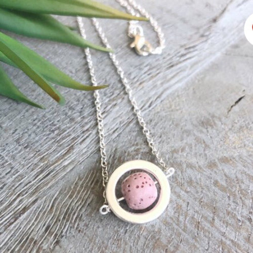 Diffusing Necklace- Dusty Pink Beads