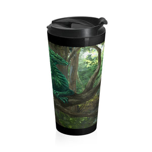 Forest Dragon Stainless Steel Travel Mug
