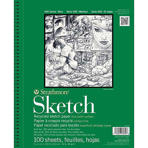 Strathmore Sketch Paper Pads 400 Series Recycled