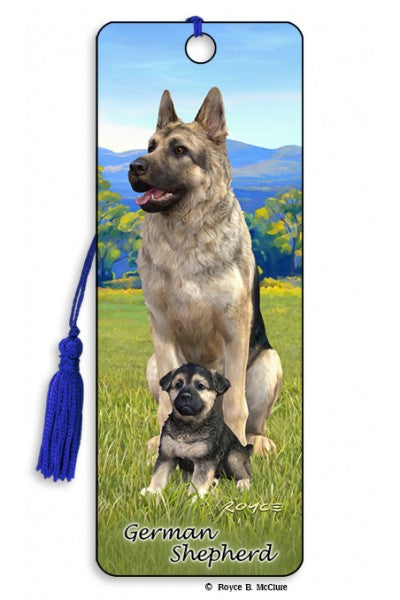 3D BOOKMARK - GERMAN SHEPARD