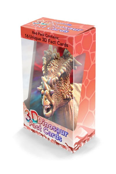 3D DINO FACTS RED PACK