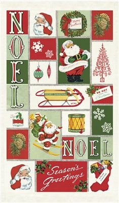 TEA TOWEL VINTAGE CHRISTMAS