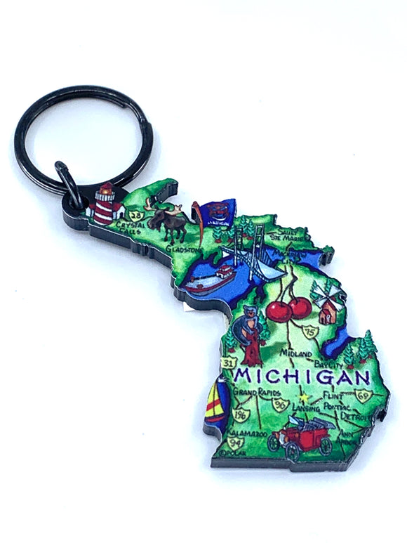 STATE OF MICHIGAN KEYCHAIN