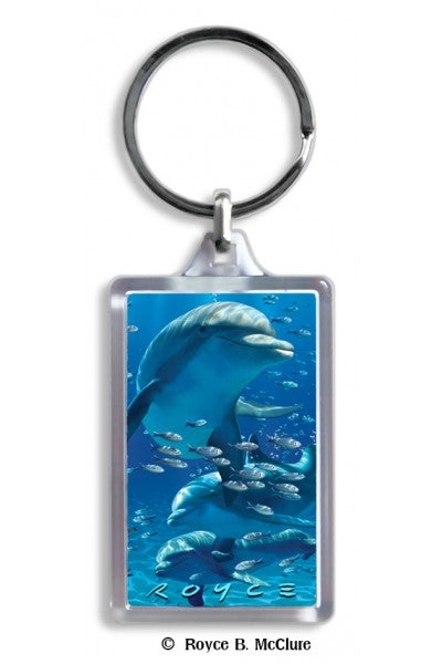 3D KEYCHAIN - DOLPHINS