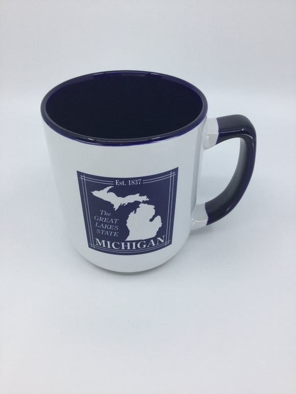 MUG WHITE TWO TONED MI