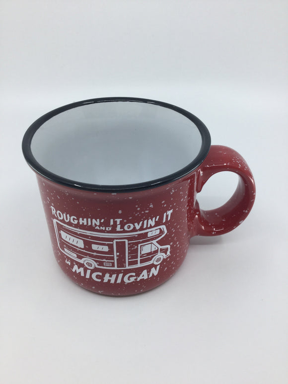 RED CAMPFIRE MUG ROUGHIN IT
