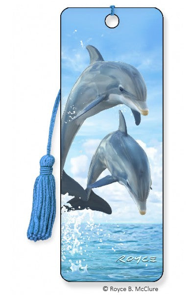 3D BOOKMARK - DOLPHIN JUMPERS