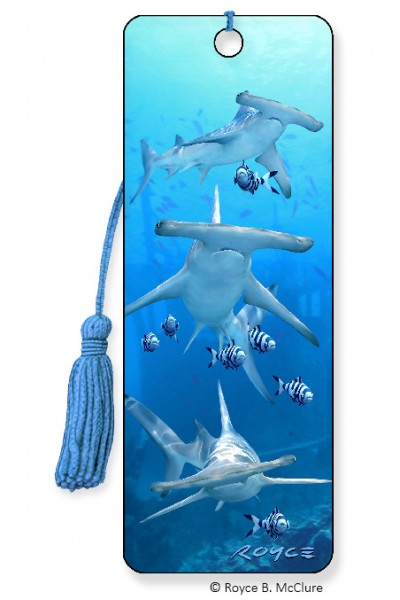 3D BOOKMARK - HAMMERHEADS