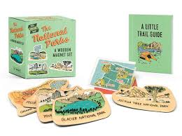 NATIONAL PARKS WOODEN MAGNET SET