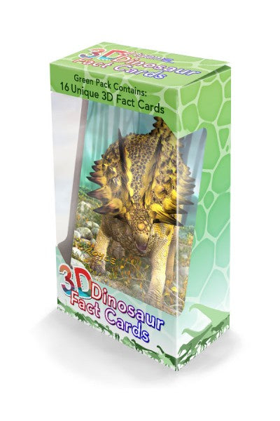 3D DINO FACTS GREEN PACK