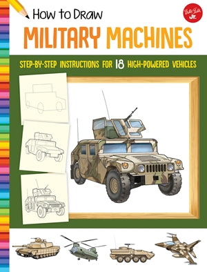 HOW TO DRAW KIDS MILITARY MACHINES