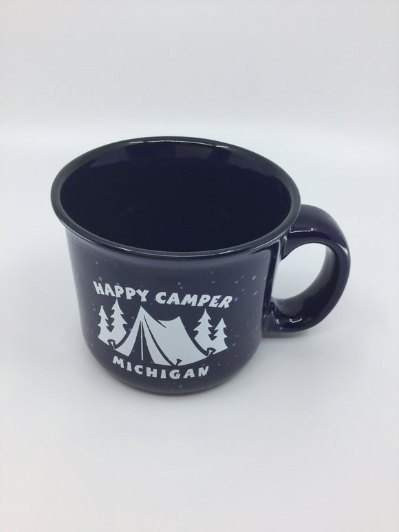 BLUE CAMPFIRE MUG HAPPY CAMPER