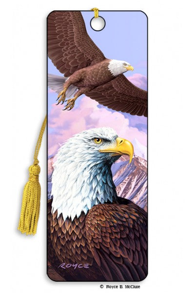3D BOOKMARK - EAGLES