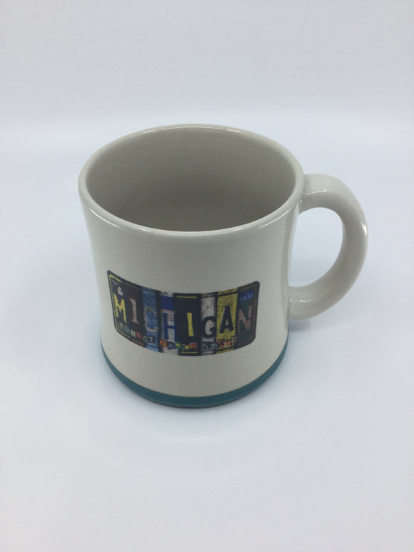 MICHIGAN LICENSE PLATE MUG