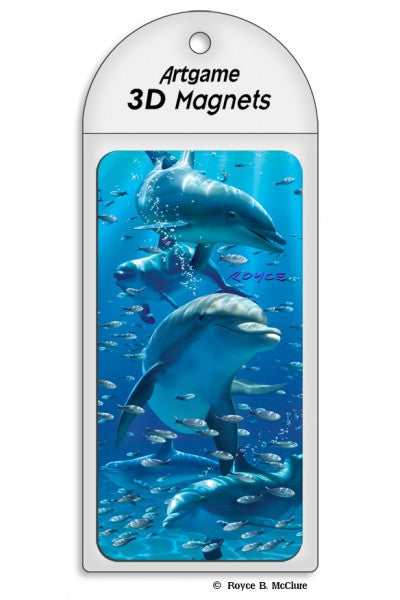 3D MAGNET - DOLPHINS