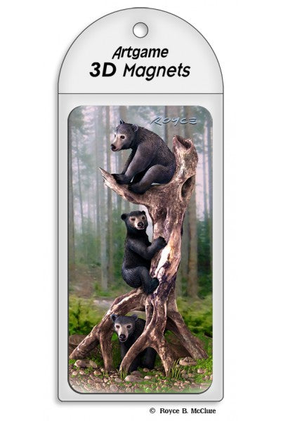 3D MAGNET - BLACK BEARS