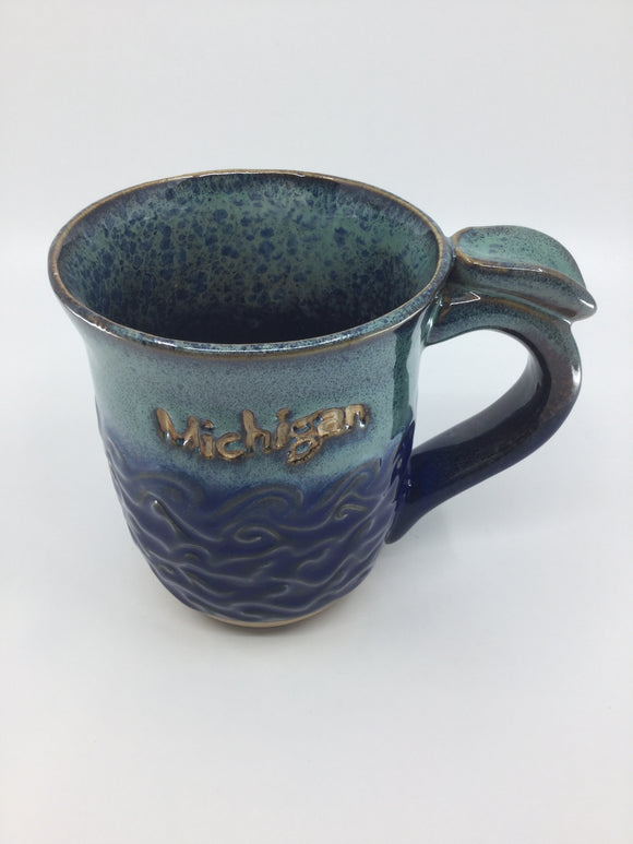 MICHIGAN POTTERY WAVE MUG
