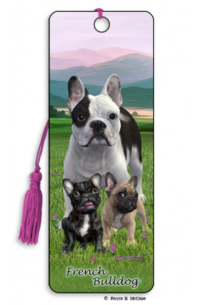 3D BOOKMARK - FRENCH BULLDOG
