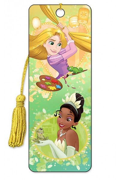 3D BOOKMARK - RAPUNZEL AND TIANA