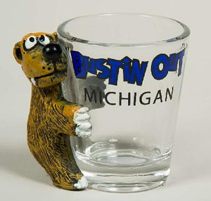 Bear Bustin' Out Michigan Shot Glass