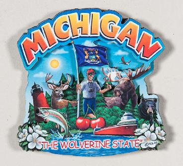 Michigan The Wolverine State Magnet