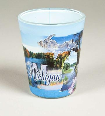 Michigan Blue Theme Shot glass
