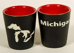 Great Lakes Shot Glass, Black