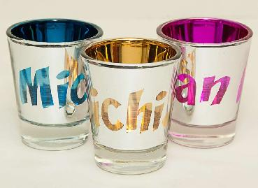 Michigan Chrome Shot Glass