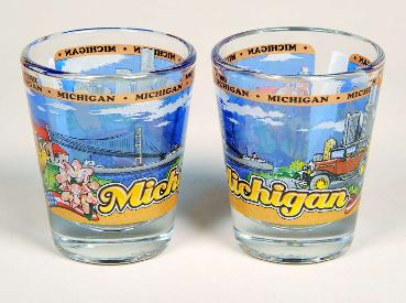 Michigan Composite Shot Glass