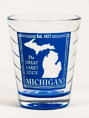 Michigan Wave Shot Glass