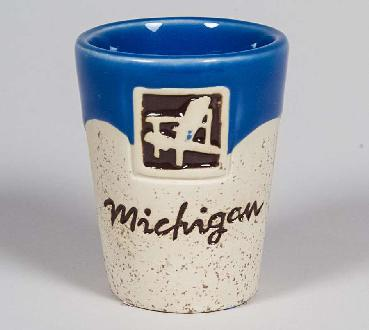 Two-Tone Sandstone Michigan Shot Glass