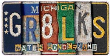 Great Lakes License Plate Magnet