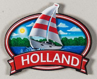 Sailboat Holland Oval Magnet