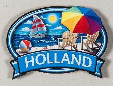 Holland Beach Oval Magnet