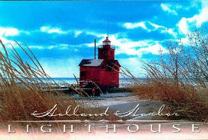 Holland Harbor Lighthouse Winter Photo Magnet