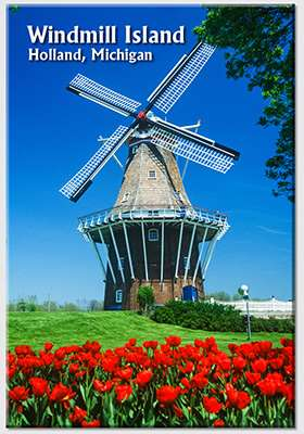 De Zwaan Windmill Photo Magnet