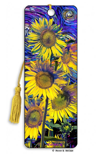 3D BOOKMARK - SUNFLOWERS