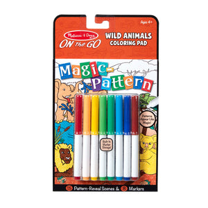 COLORING PAD WILD ANIMALS