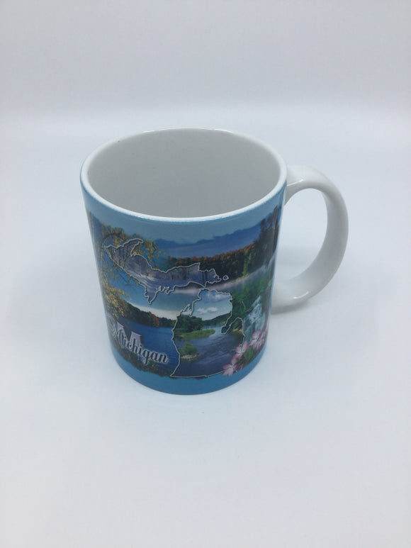 MUG MICHIGAN BLUE THEME