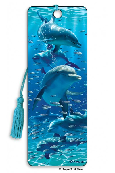 3D BOOKMARK - DOLPHINS