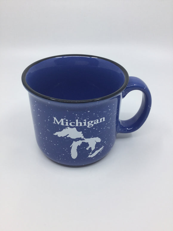 LIGHT BLUE CAMPFIRE MUG MICHIGAN