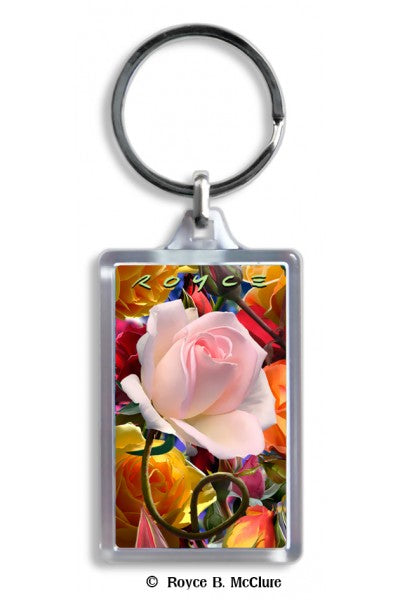 3D KEYCHAIN - ROSE
