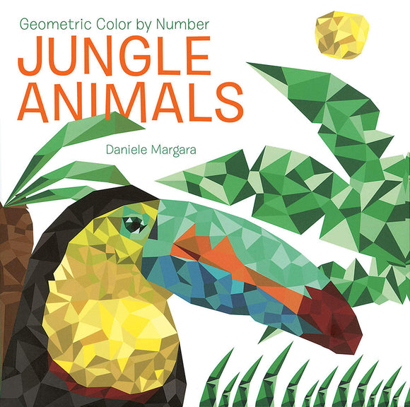 COLOR BY NUMBER JUNGLE ANIMALS