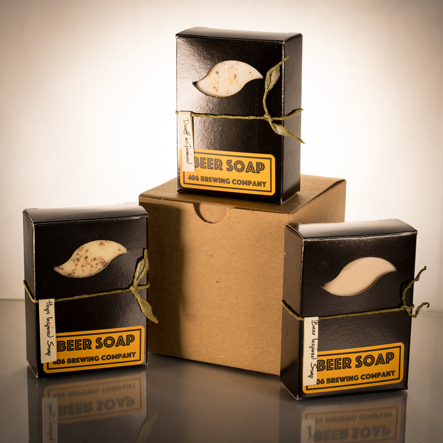 Hand Crafted Beer Soap - 406 Montana Soaps -Box Set