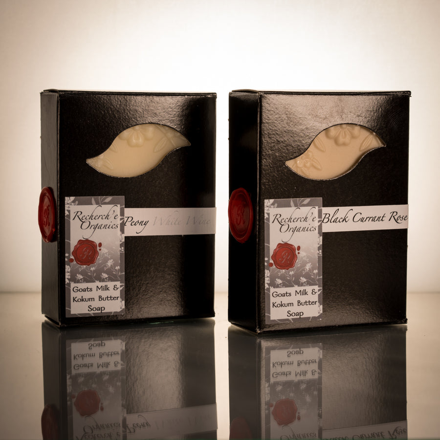 Hand Crafted Soap Set - Wine Line: Black Currant Rose / Peony