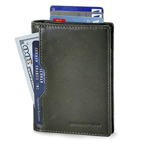 SERMAN BRANDS Minimalist Card Front Pocket Bifold Travel Wallet