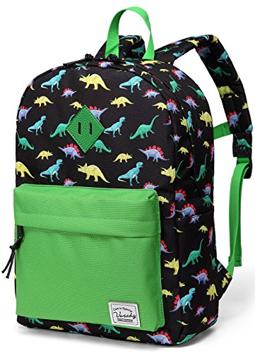 Vaschy Kids Backpack with Chest Strap Cute Dinosaur