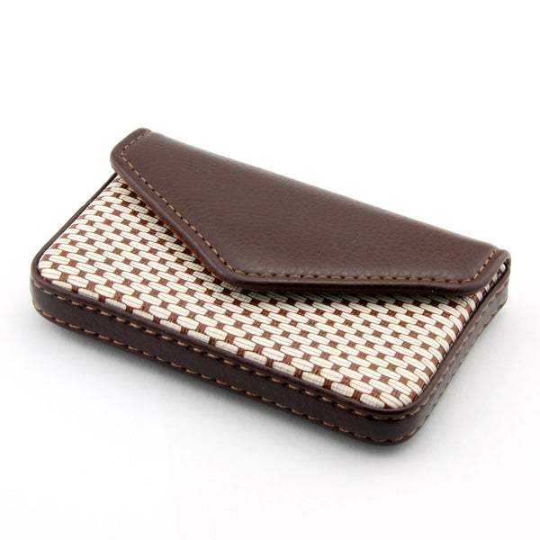 Partstock Multipurpose PU Brown Leather Business Card Holder Wallet